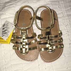 NWT Gold gladiator sandals